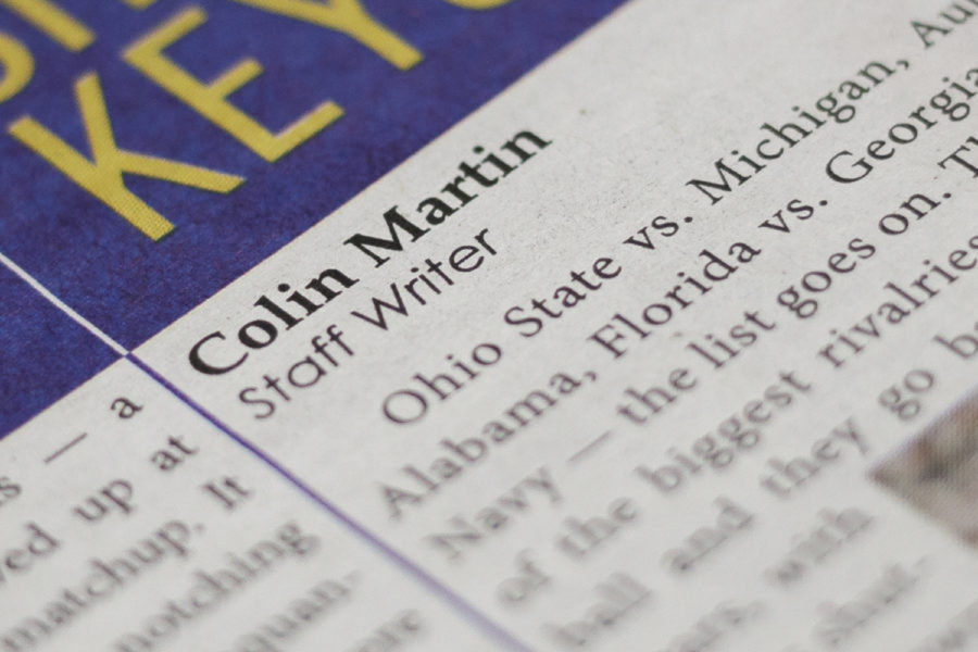 Colin Martin has worked for The Pitt News for two years.
