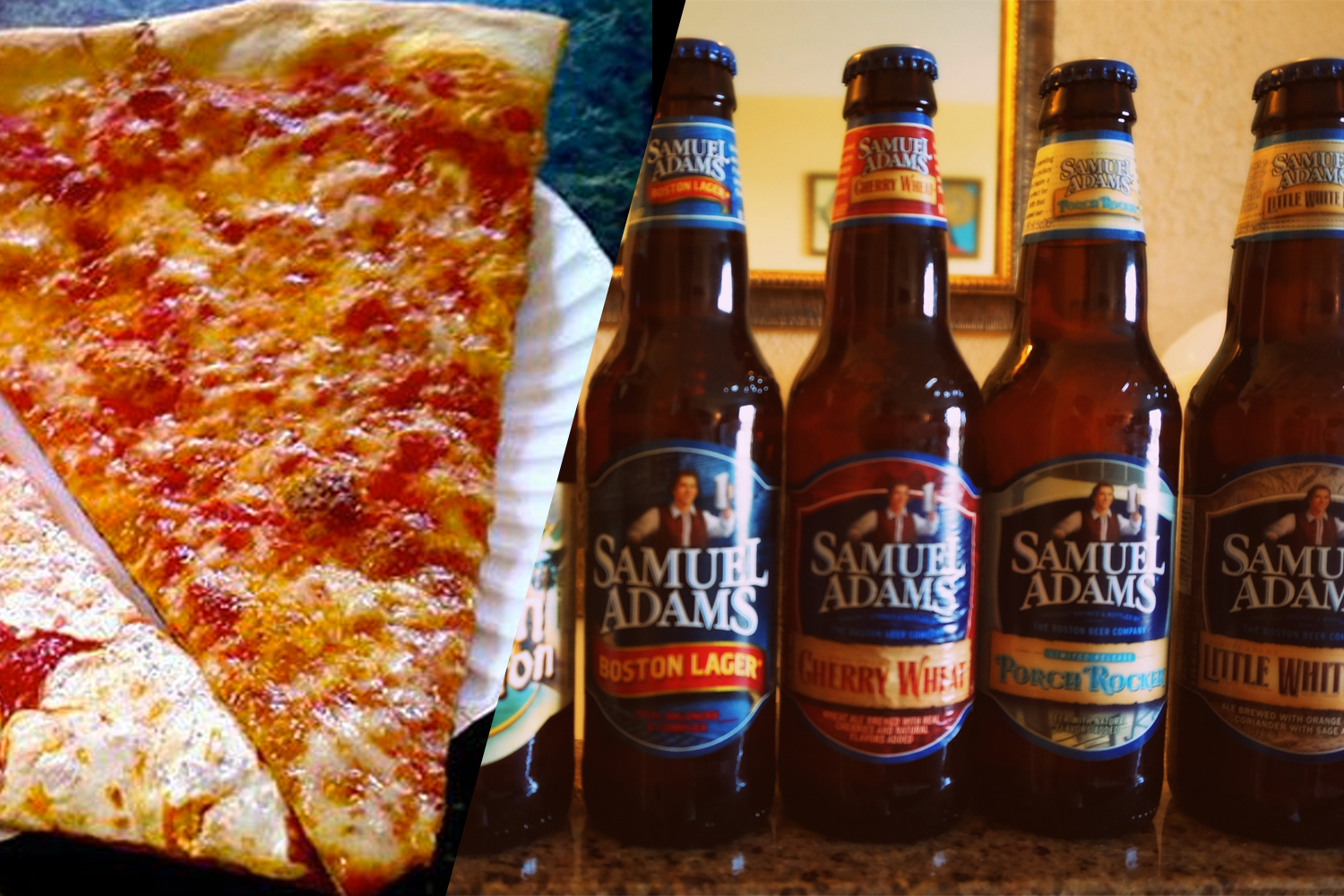 New York-style pizza and Boston lagers.