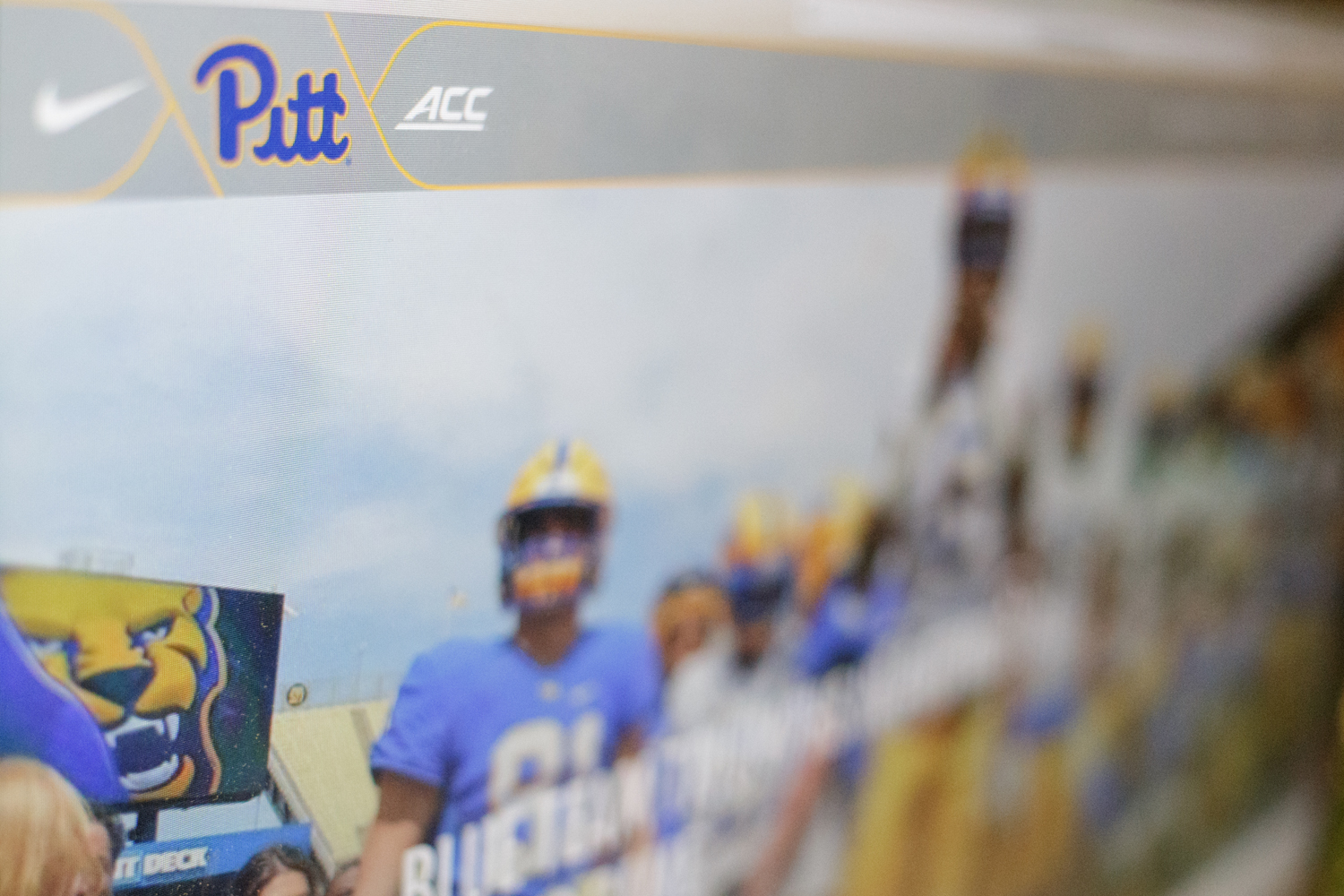 Pitt Athletic's current website.