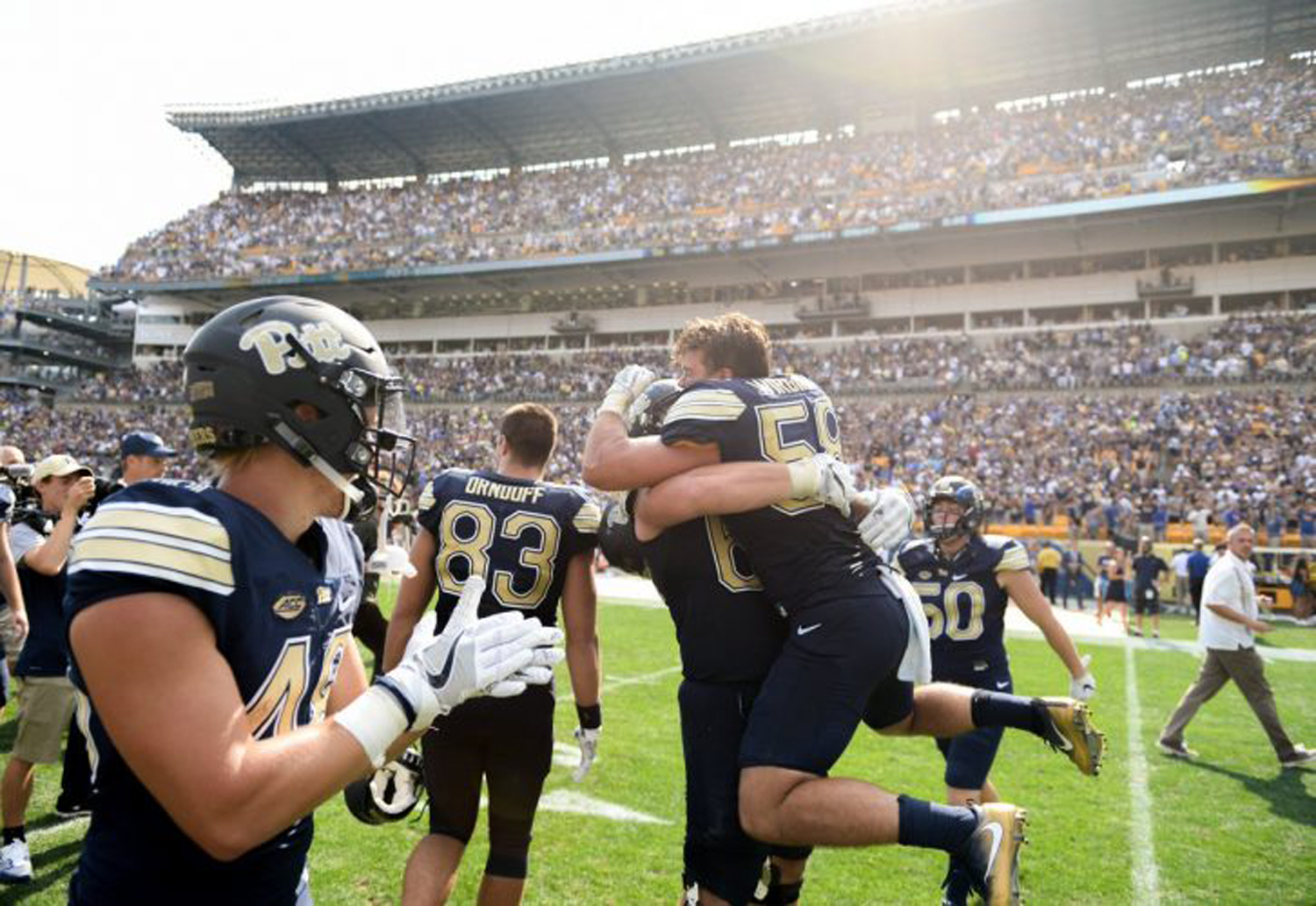Pitt football upset Penn State in 2016 with a last-minute interception and a final score of 42-39.