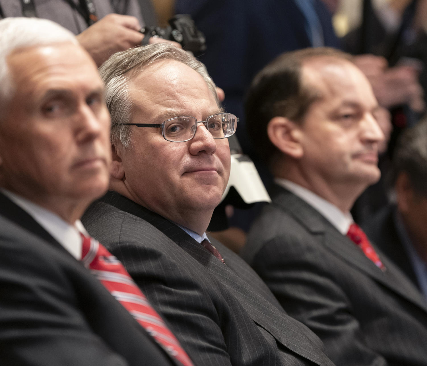 Acting Interior Secretary David Bernhardt attends a Cabinet meeting, February 12, 2019, at the White House in Washington, D.C.