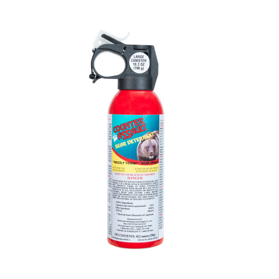 Bear spray contains capsaicin, the same active ingredient found in pepper spray.