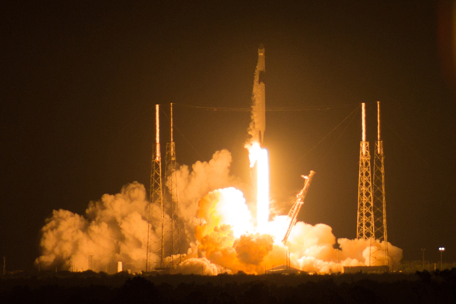 A SpaceX Falcon 9 rocket carries the University of Pittsburgh NSF SHREC's STP-H6-SSIVP supercomputer to the International Space Station at Cape Canaveral on May 4.
