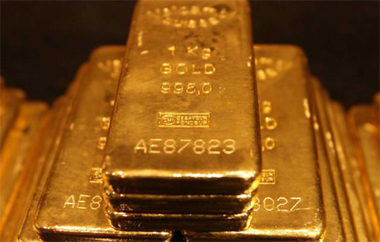 Gold ingots.