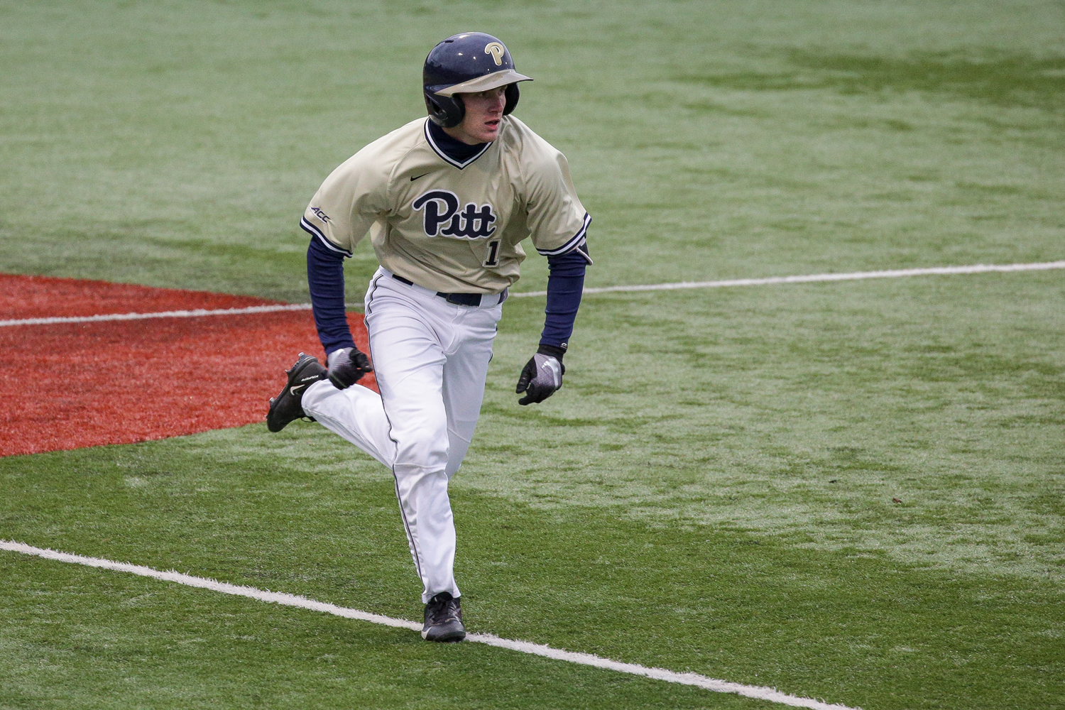 Junior outfielder Nico Popa (1) put the first points on the board with a home run at Pitt's 9-4 loss to West Virginia on Tuesday evening.