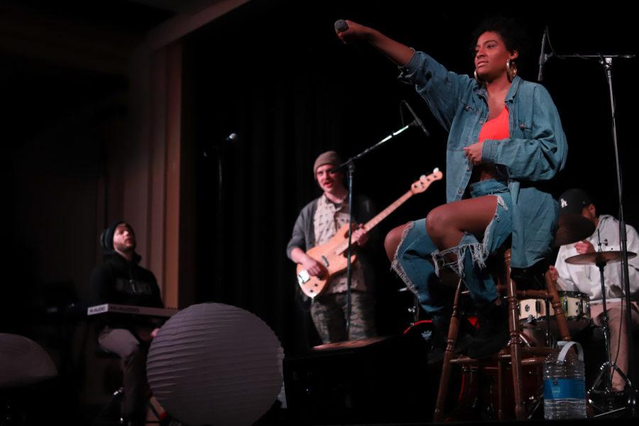 Clara Kent performing at Pitt Tonight on April 2.