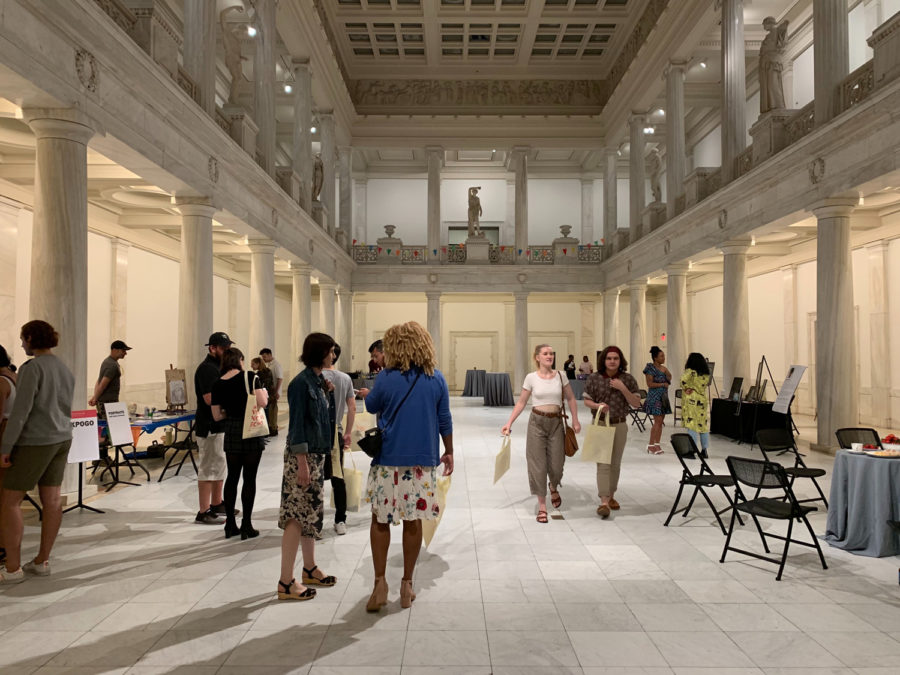 Museumgoers at the Carnegie Museum of Art's Third Thursday event.