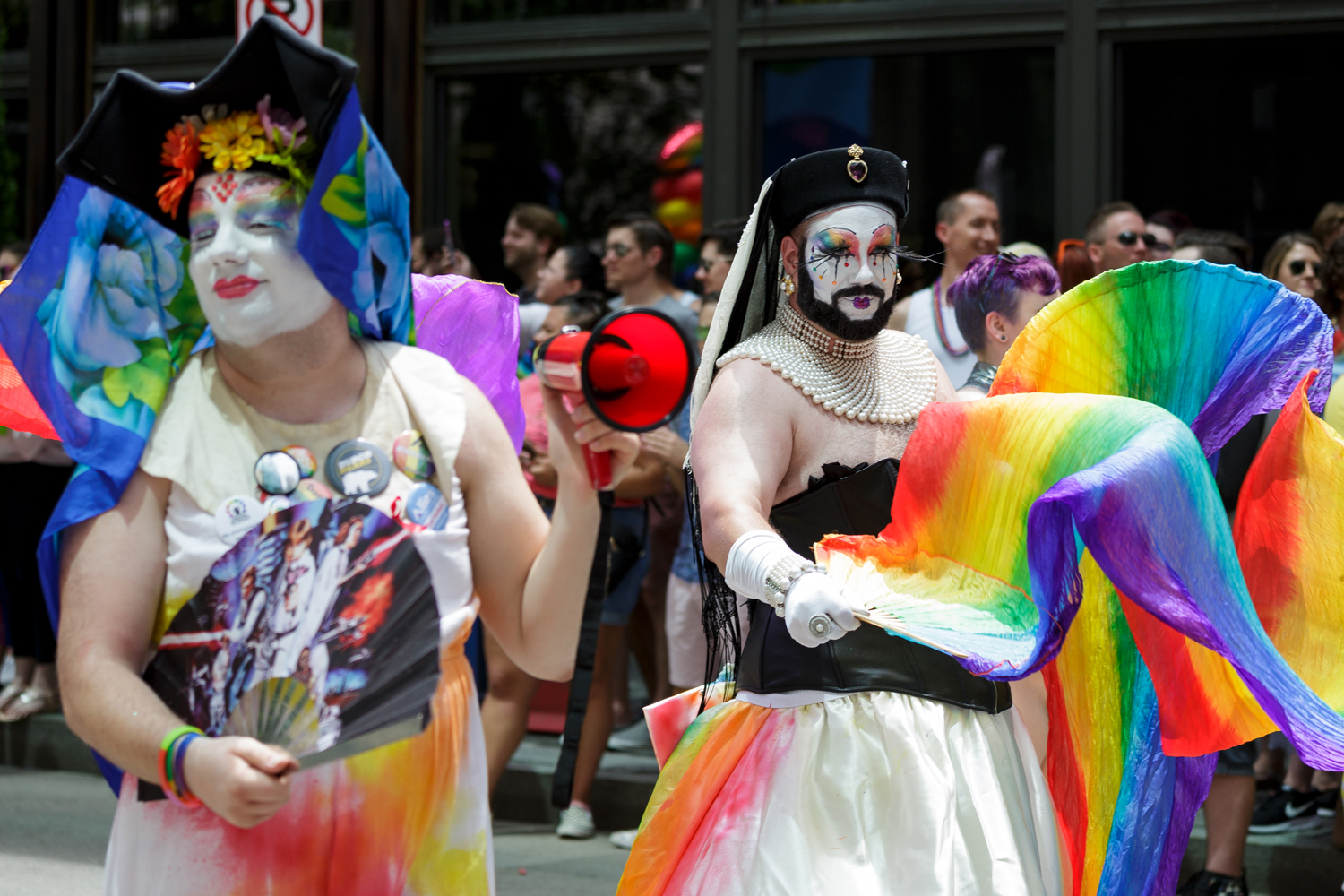 The Steel City Sisters at Sunday's Equality March.