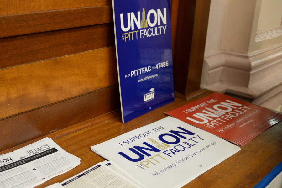 Faculty+union+organizers+challenged+hundreds+of+the+names+Pitt+included+in+its+list+of+faculty+eligible+for+a+bargaining+unit.