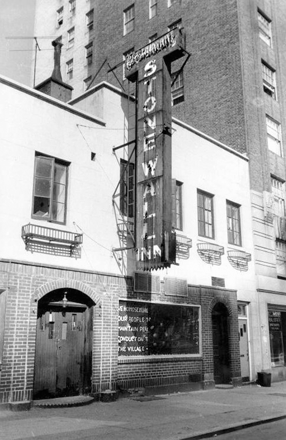 The Stonewall Inn in 1969.