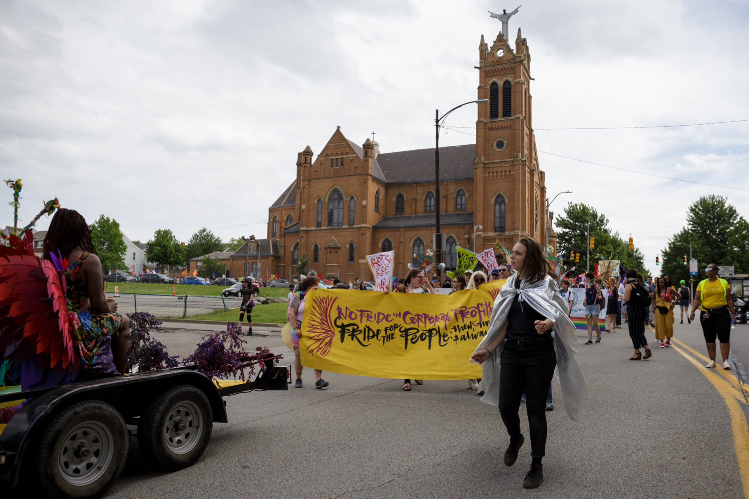 The People's Pride march kicks off from Freedom Corner.