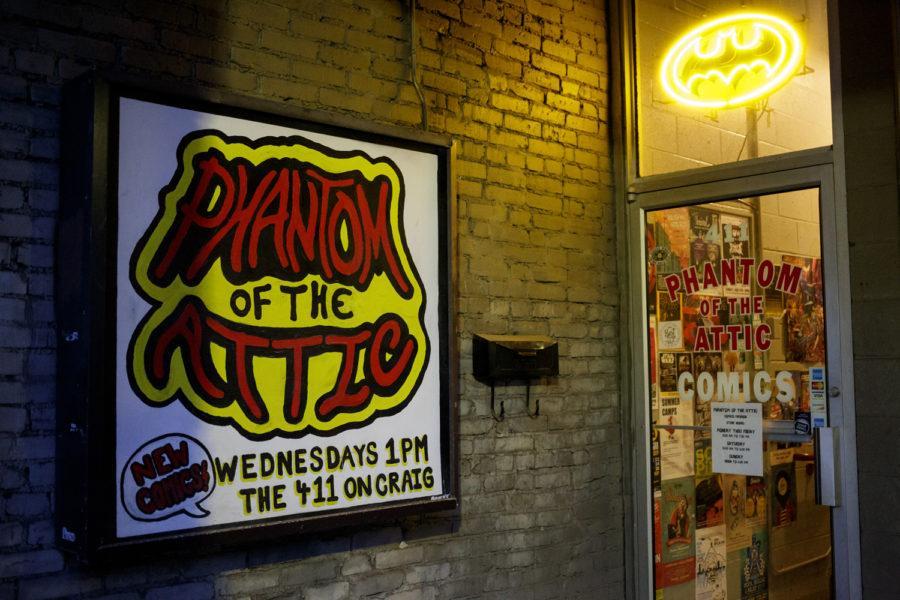 Phantom+of+the+Attic+Comics+on+South+Craig+Street.%0A