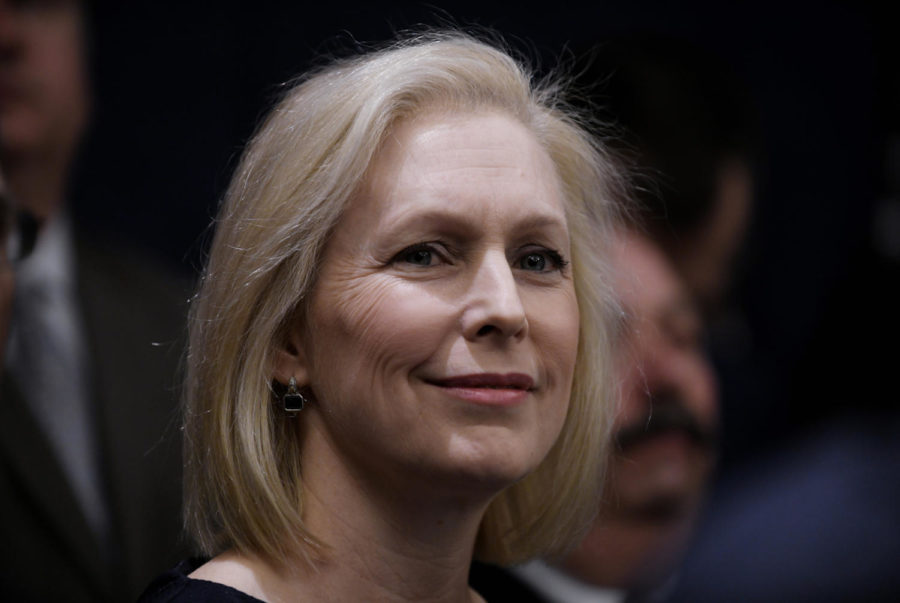 Sen. Kirsten Gillibrand (D-N.Y.) attends a news conference on Capitol Hill in Washington, D.C., on February 25, 2019. (Olivier Douliery/Abaca Press/TNS)