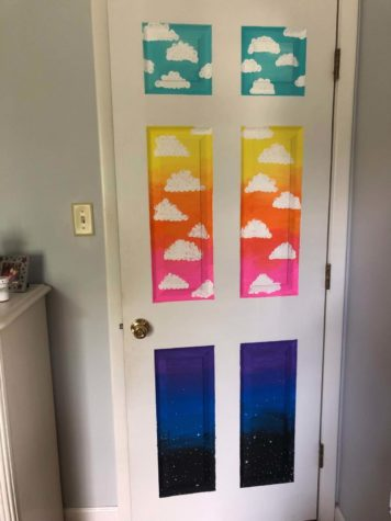 Assistant opinions editor Leah Mensch painted her bedroom door over the summer.