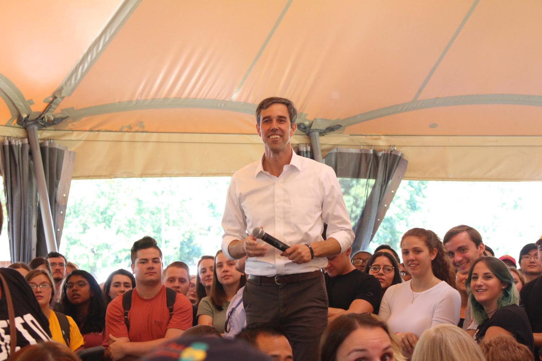 Presidential candidate Beto O'Rourke visited Schenley Plaza on Wednesday to discuss marijuana, immigration and gun legislation.