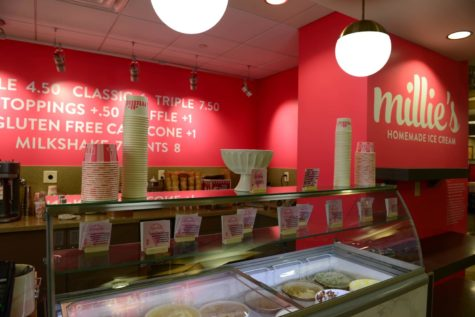 Millie's ice cream now on the meal plan