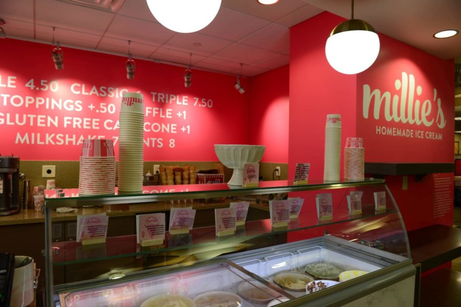 Students can use Dining Dollars at the new Millie's location in the University Store.