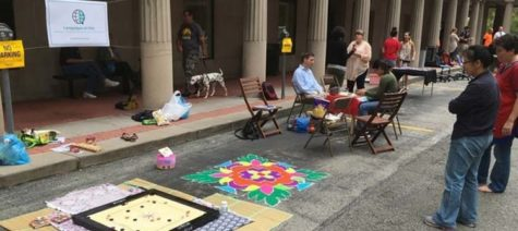Students park their creativity outside Hillman Library