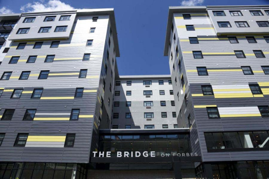 "Pitt has leased 87 of the Bridge on Forbes' 197 luxury apartments, creating a ""master lease"" for student athletes."