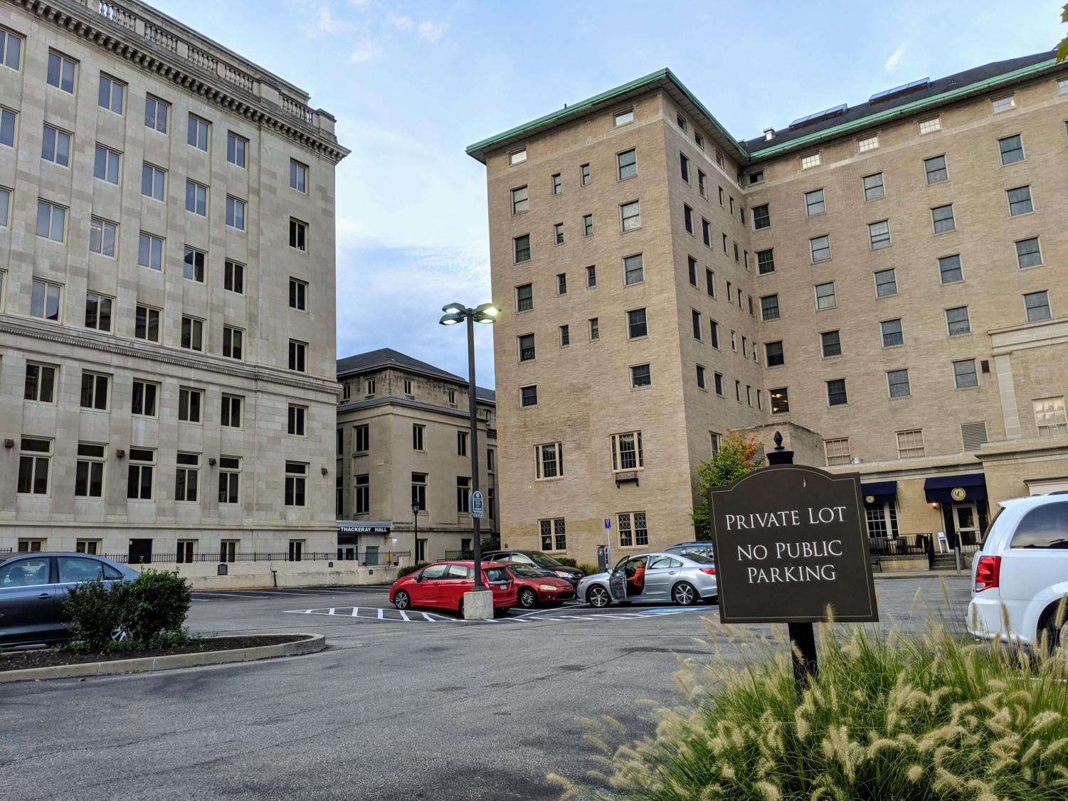 Pitt is looking to build a hotel and conference center in what is currently a parking lot next to the University Club and Thackeray Hall.