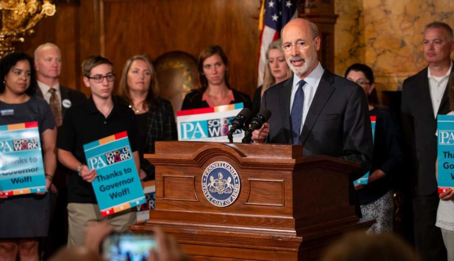 Governor+Tom+Wolf+announced+on+Monday+that+state+voters+will+be+allowed+to+request+absentee+ballots+online.%0A