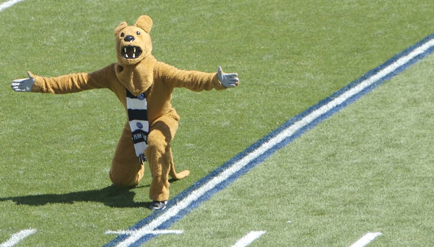 The Nittany Lion looks like a cheap knockoff.