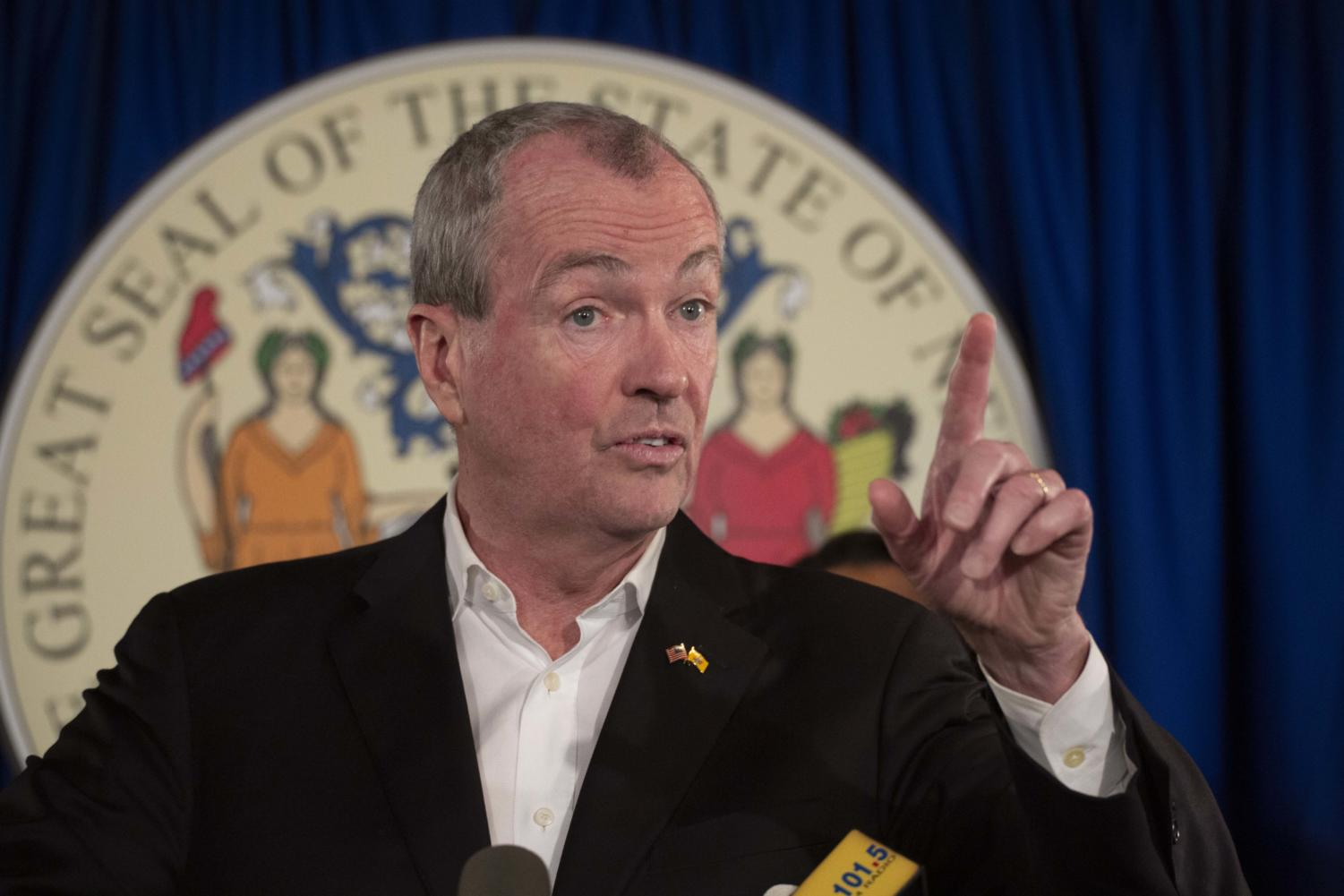 Gov. Phil Murphy is pictured in Trenton, New Jersey, in March.