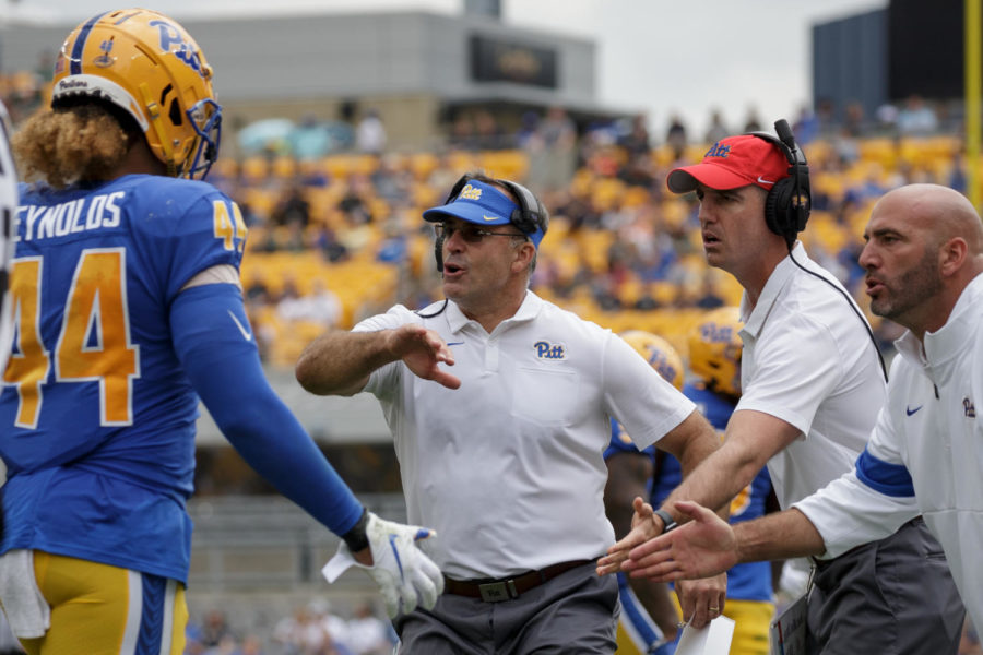 Coach Pat Narduzzi's Panthers will play against the University of Delaware's Fightin Blue Hens on Saturday.