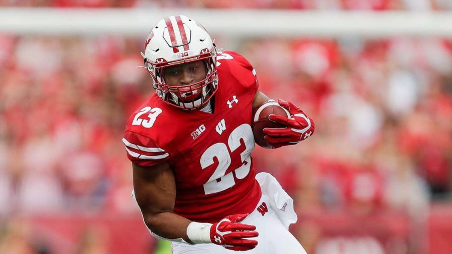 Wisconsin running back Jonathan Taylor (23) during the first half of an NCAA college football game against Central Michigan Saturday, Sept. 7.