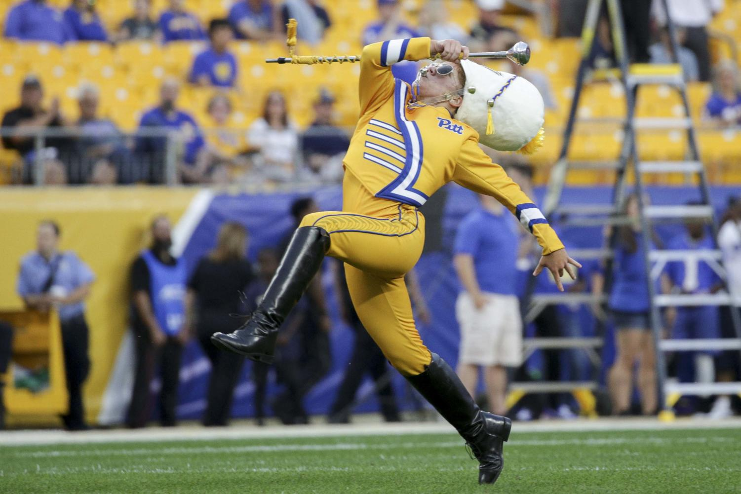 Crissy Shannon is Pitt's first female drum major.