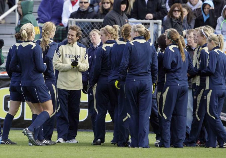 Pitt+women%27s+soccer+coach+Randy+Waldrum+previously+coached+at+Notre+Dame+from+1999+to+2013.+