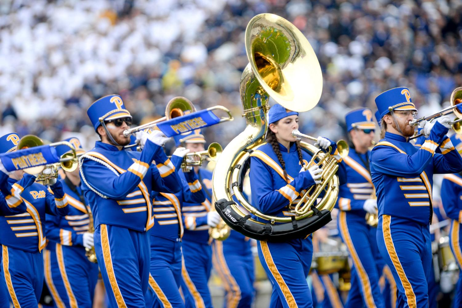 The Pitt band currently uses the Sports Dome and Cost Center for most of its practice, but the new Victory Heights facility will give them a larger and more updated space.