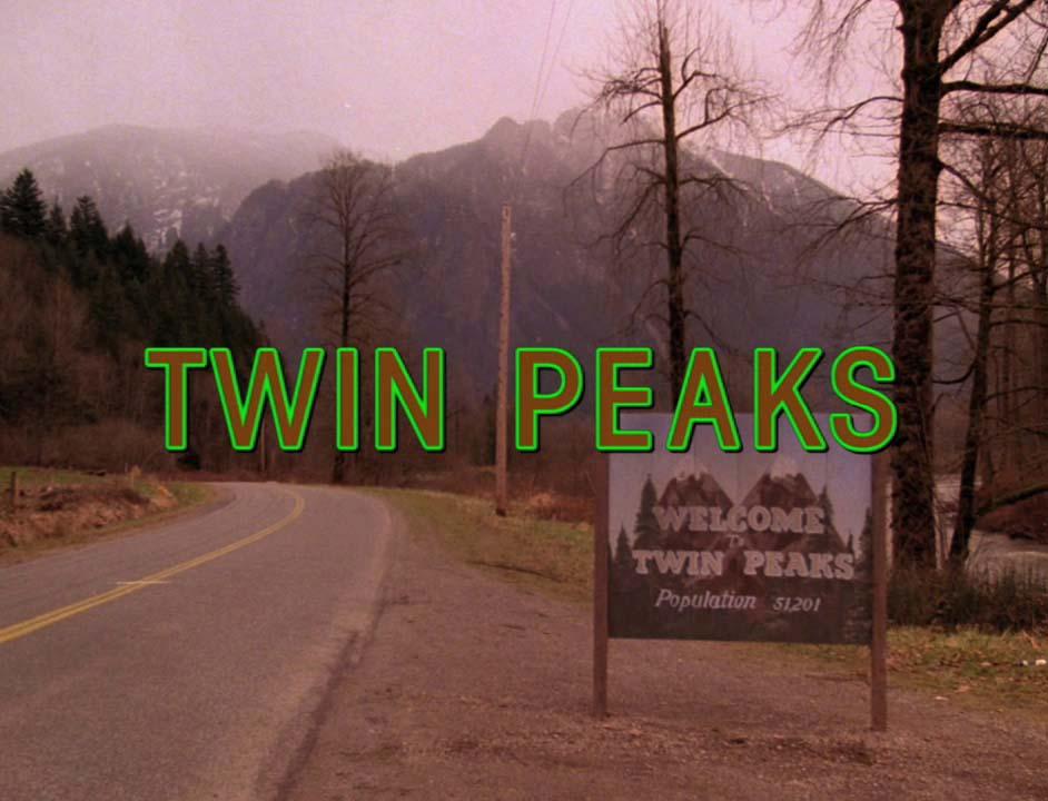 """""""Twin Peaks"""" title card."""