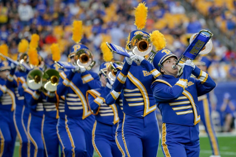 Pitt's marching band uses a phone app instead of paper to share sheet music.