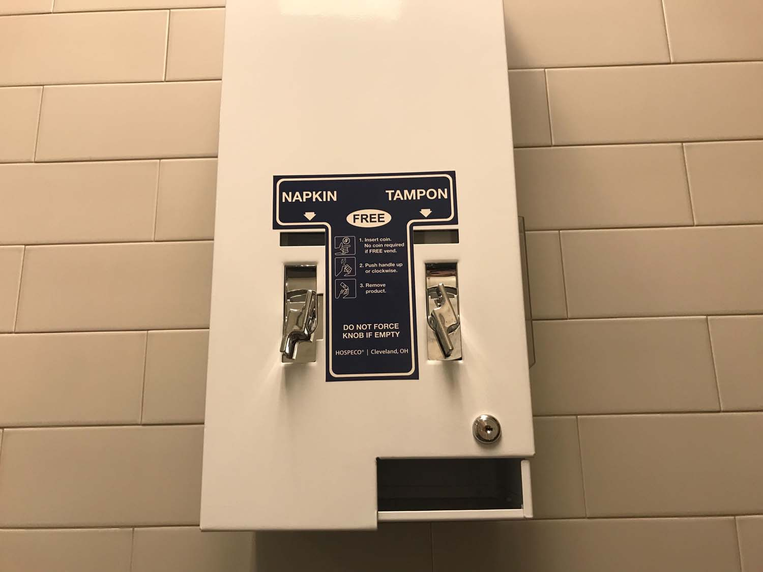 Women's bathrooms in the Cathedral of Learning, the William Pitt Union, Posvar Hall and several other buildings on campus now contain dispensers stocked with free menstrual products.