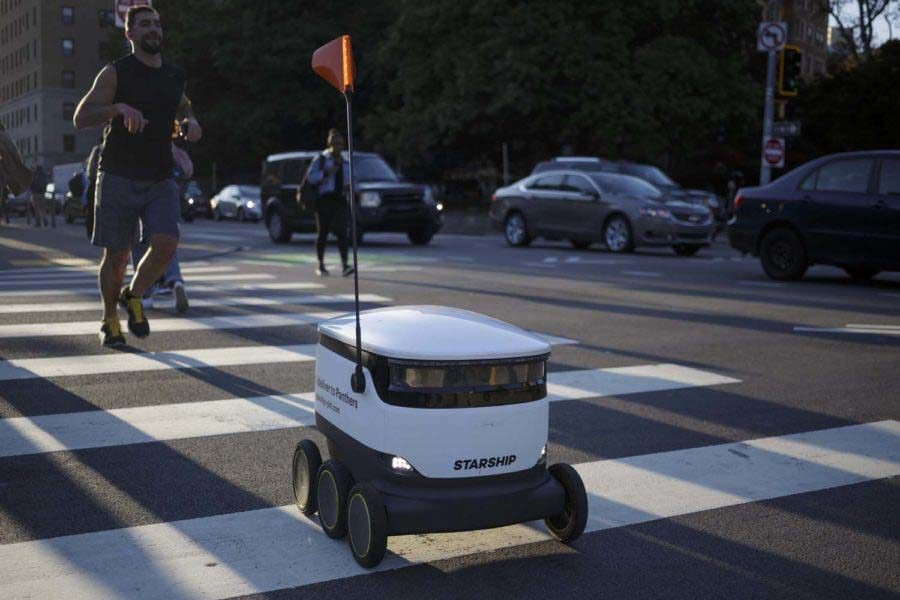 Starship Technologies announced Tuesday that its food robots have begun completing deliveries to students on lower campus.