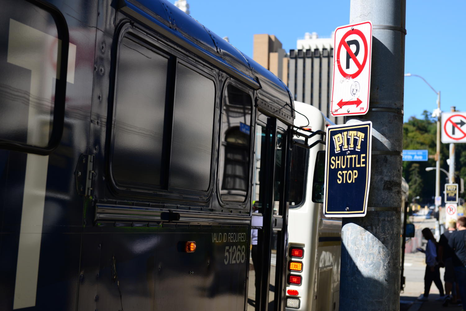 The shuttle stop located at Fifth and Bigelow will relocate to Schenley Drive in front of Hillman Library when Bigelow closes next month.