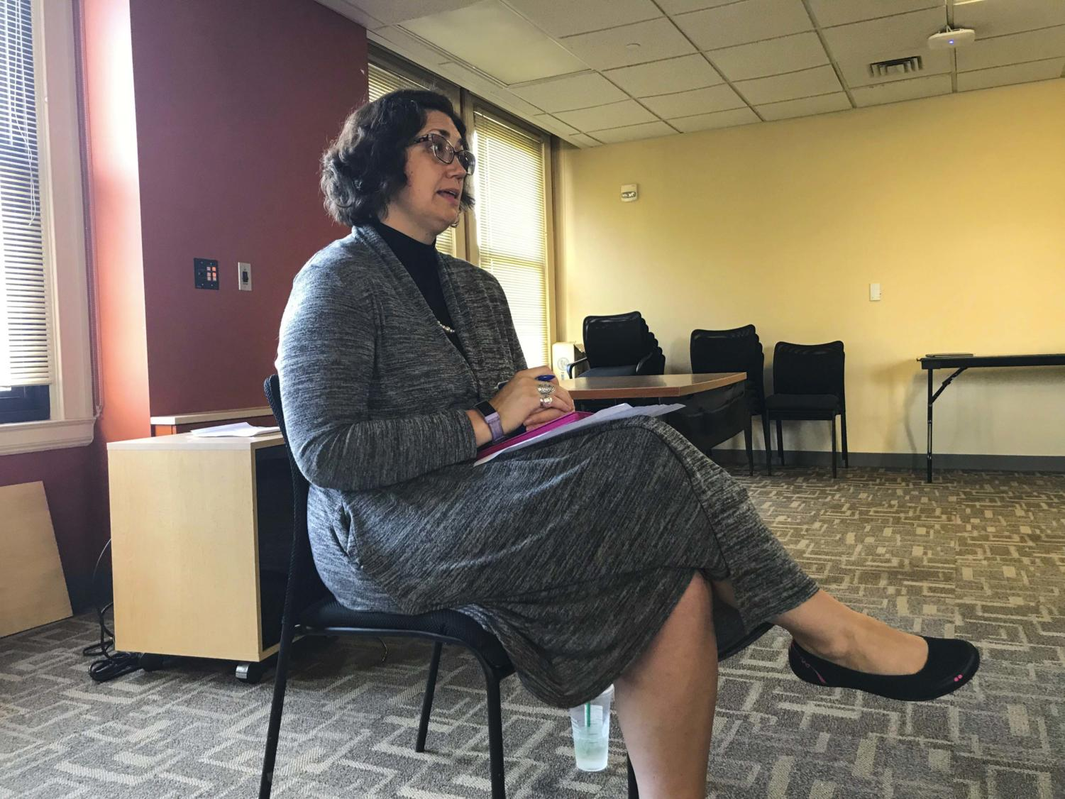 Katie Pope, the coordinator of the Title IX office, talks about the push to make her office more accessible.