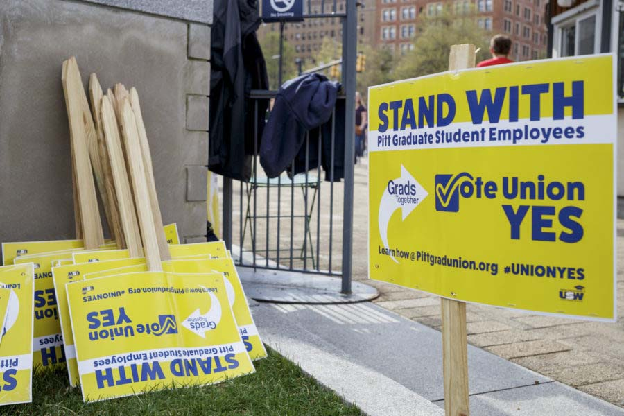 """Hearing Examiner Stephen Helmerich said Pitt committed """"coercive acts"""" leading up to the April grad student unionization vote."""