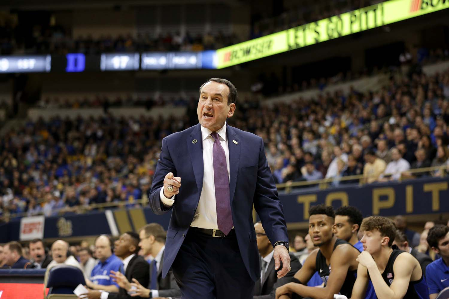 Head coach Mike Krzyzewski's Blue Devils are poised to win the 13th ACC title of his tenure.
