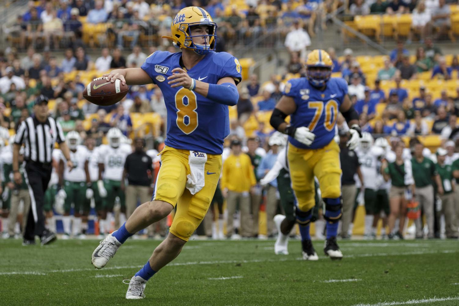 Quarterback Kenny Pickett threw the ball 34 times in just the first half at Duke on Saturday.