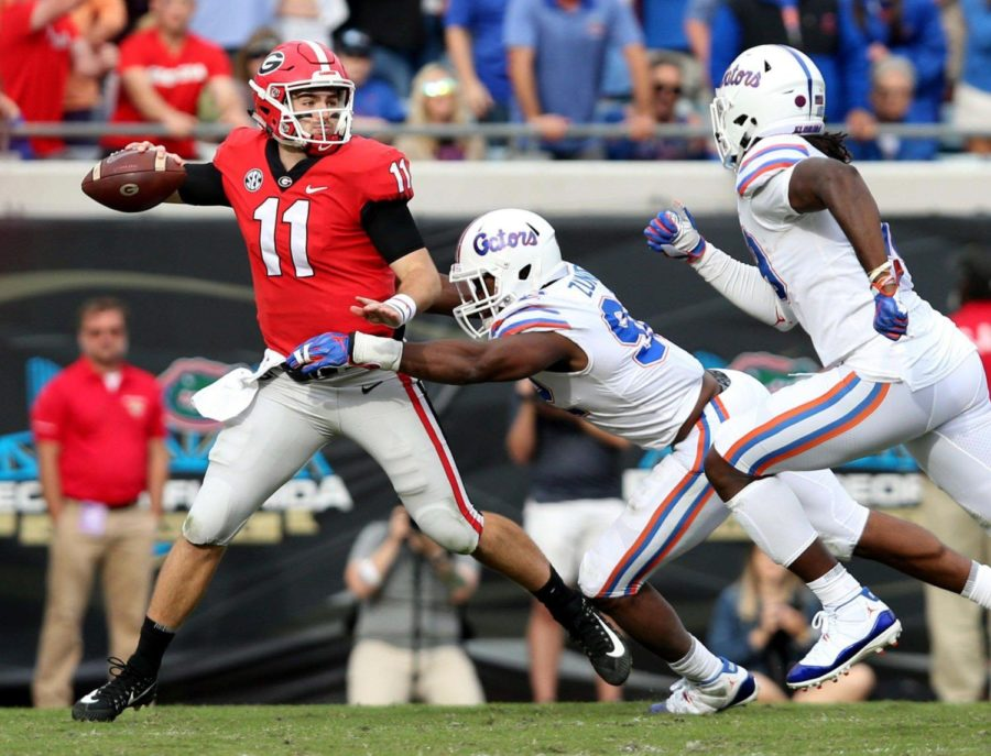Georgia Bulldogs quarterback Jake Fromm (11) is 2-0 vs. Florida as a starter, with only one sack and one turnover.