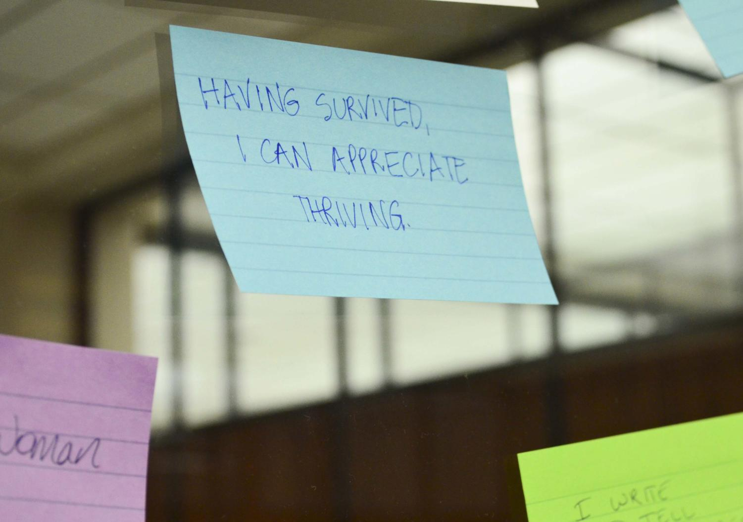 The Open Door Project hosted Six Word Stories: an Interactive Exhibit Monday, where visitors were asked to write about themselves in only six words.