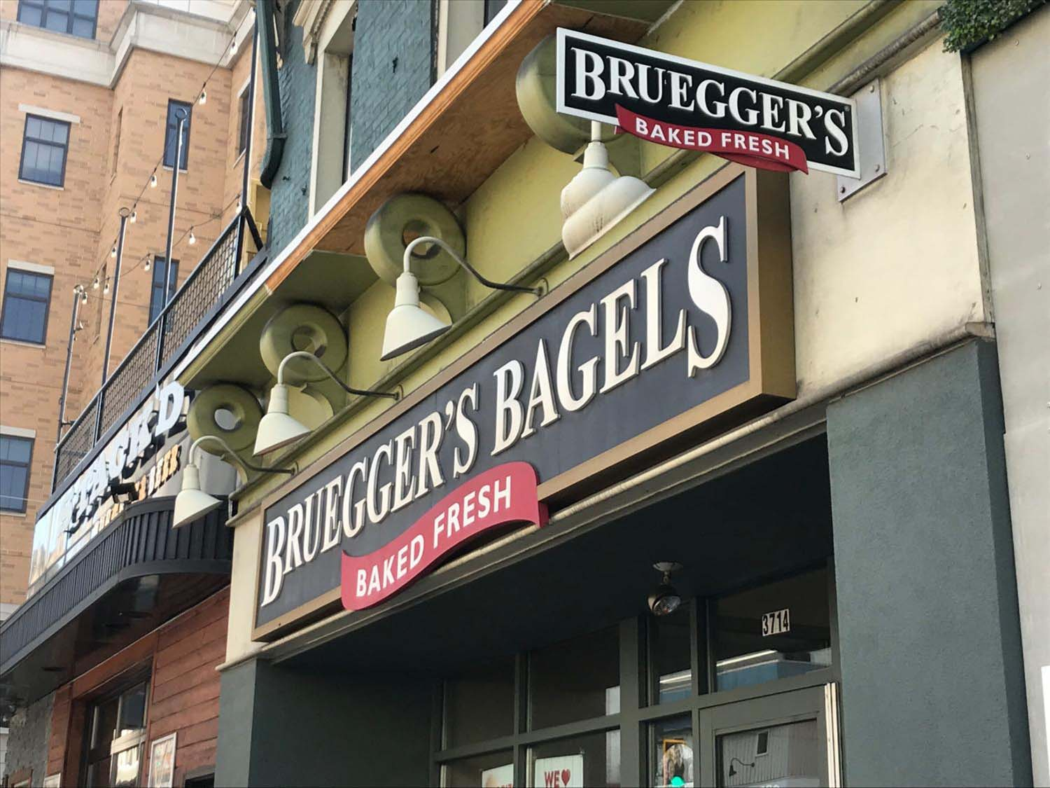 An attempted robbery was conducted on Bruegger's Bagels on Forbes Avenue on Monday afternoon.