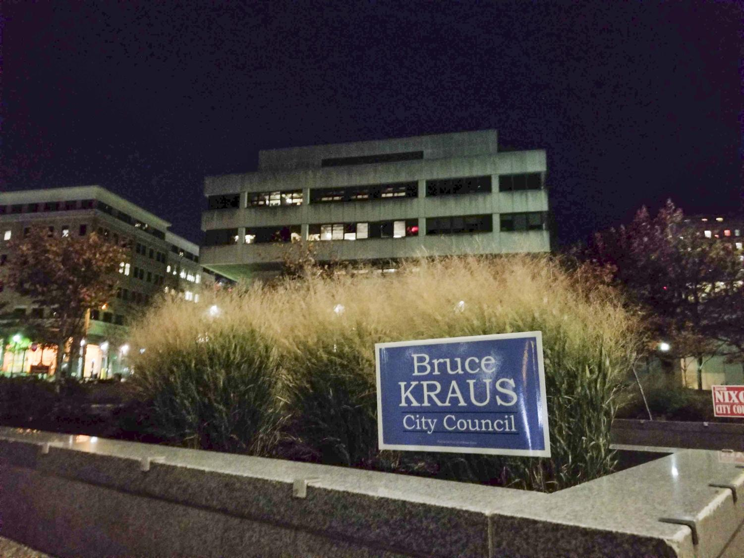 Incumbent Bruce Kraus beat independent Jacob Nixon in Tuesday's election for the District 3 City Council seat.