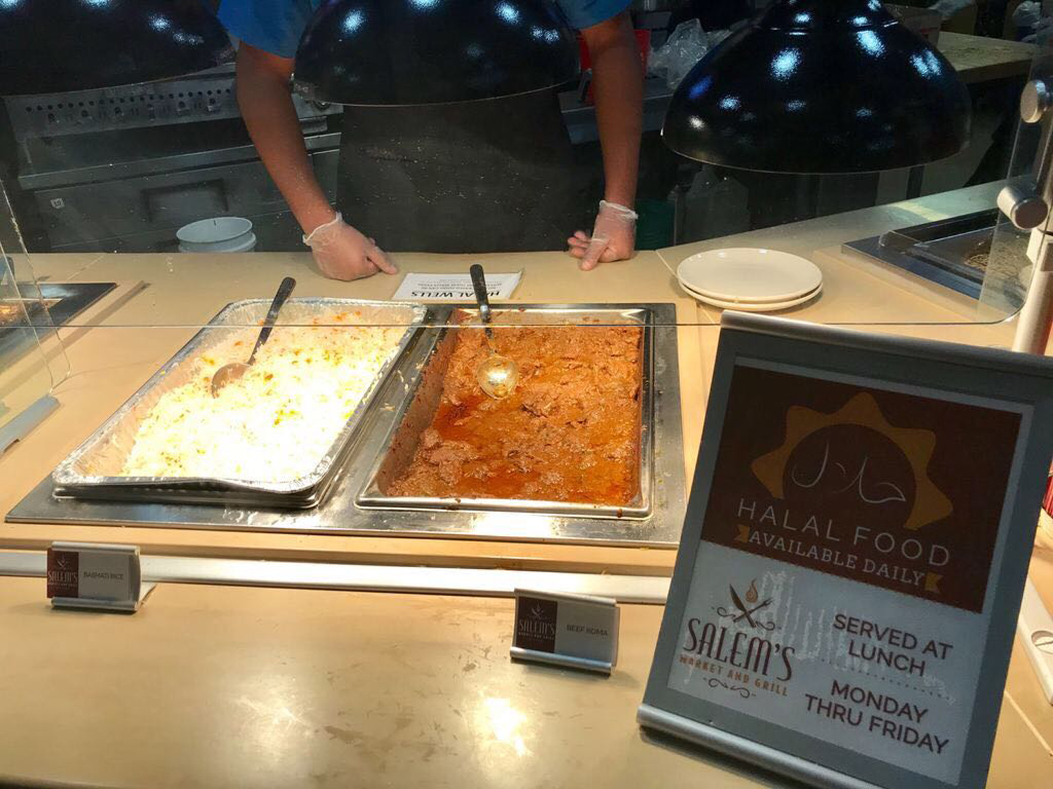 Market Central now serves expanded halal food options between 11 a.m. and 2 p.m. at the Magellan's food station.