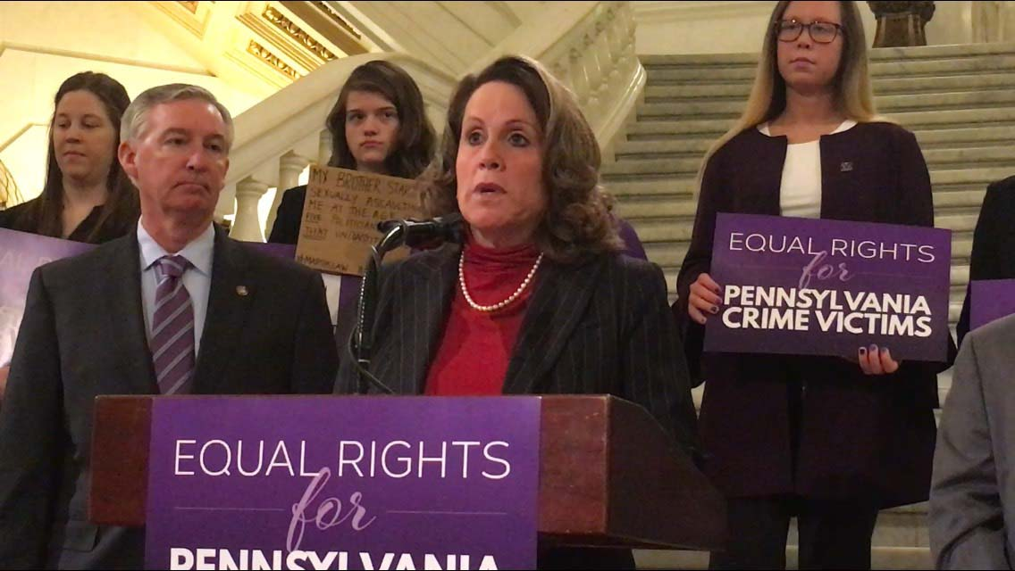 Rep. Sheryl Delozier, R-Cumberland, was among those who spoke at a Capitol news conference about a proposed constitutional amendment, dubbed Marsy's Law, that would give crime victims constitutionally protected rights.
