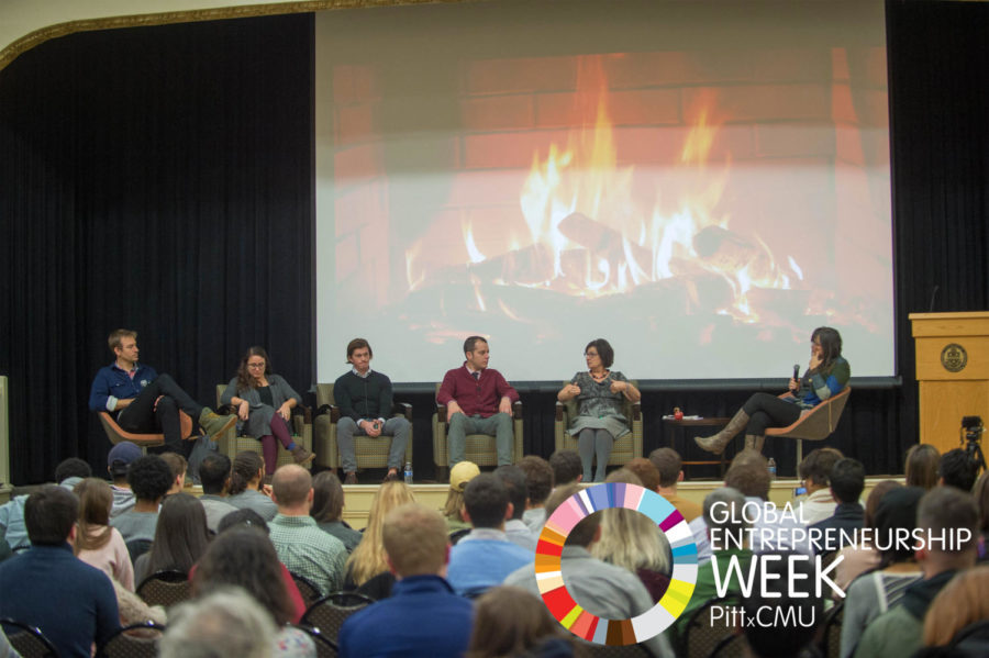 Social Impact Investing Panel exploring social entrepreneurship held at the Ohara student center in the Ballroom