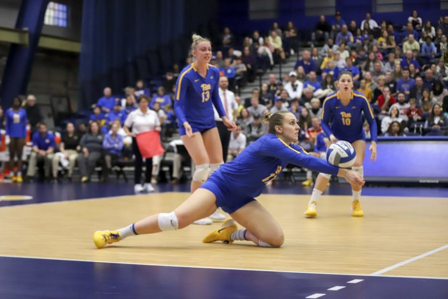 Friday's match marked Pitt voleyball's 100th ACC win.