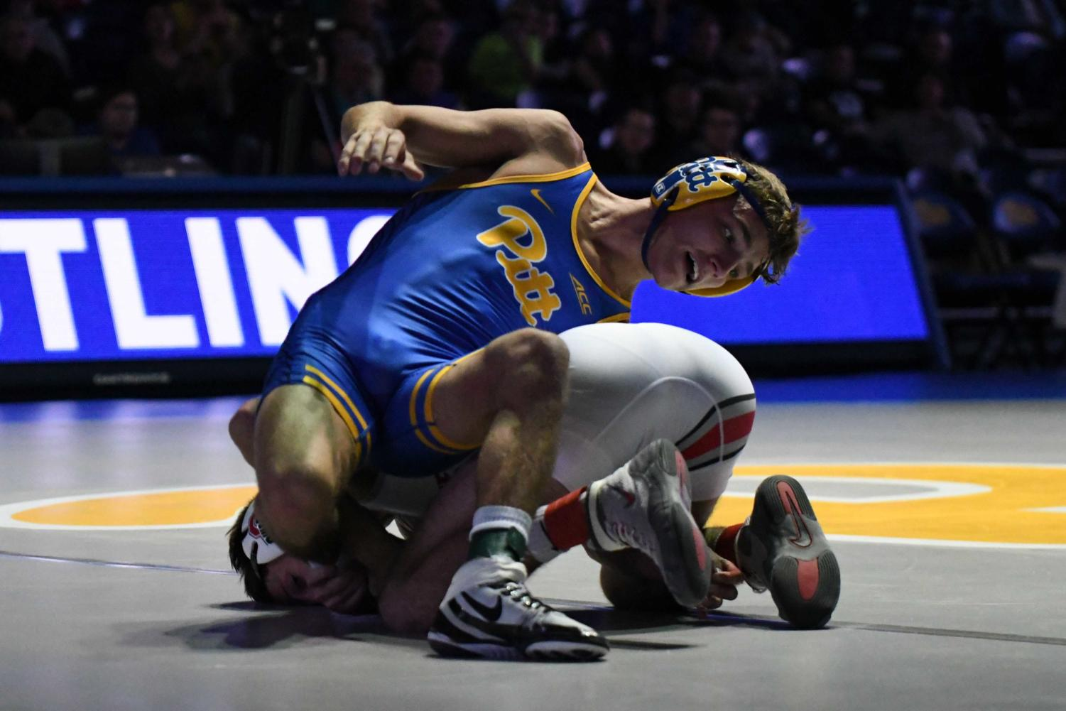 Micky Phillippi recorded one of Pitt's four individual wins during Friday's match against Ohio State.
